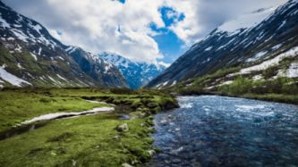 Mountains landscapes nature valley norway rivers wallpaper