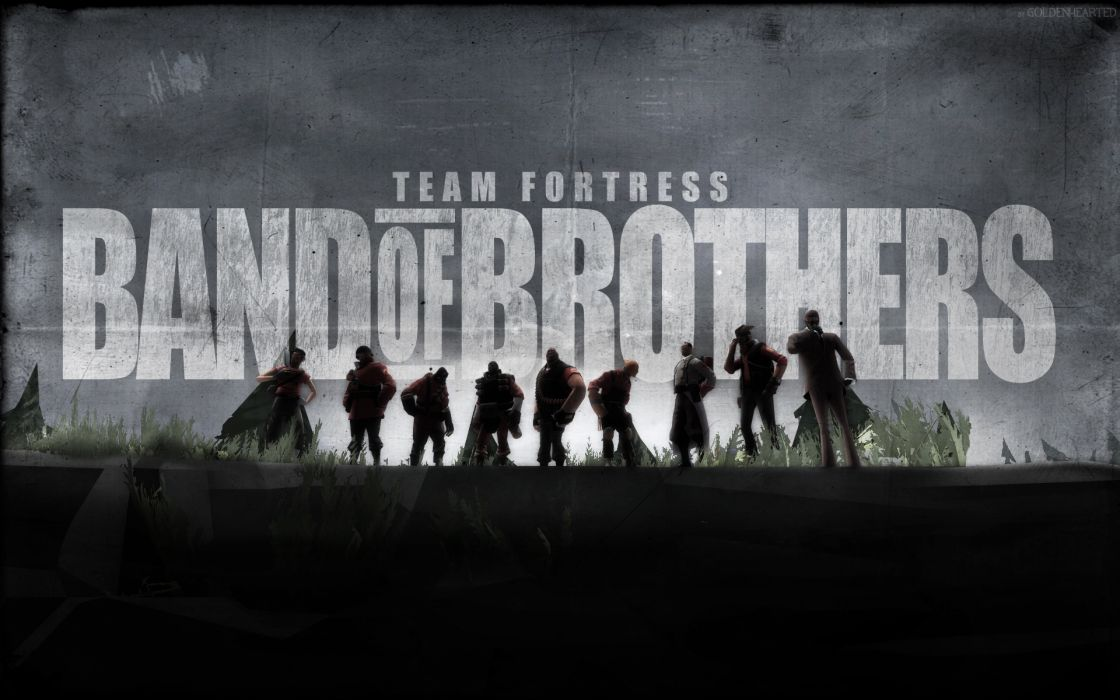 Team fortress 2 band of brothers red team tf2 wallpaper