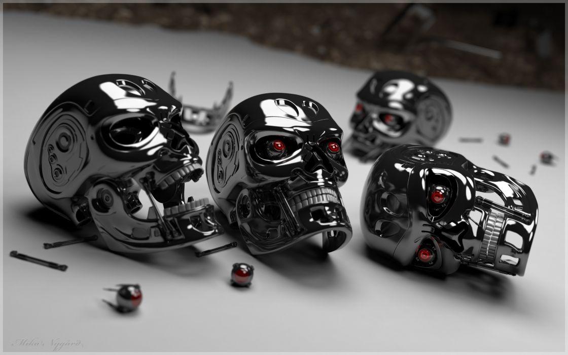 Skulls terminator wallpaper