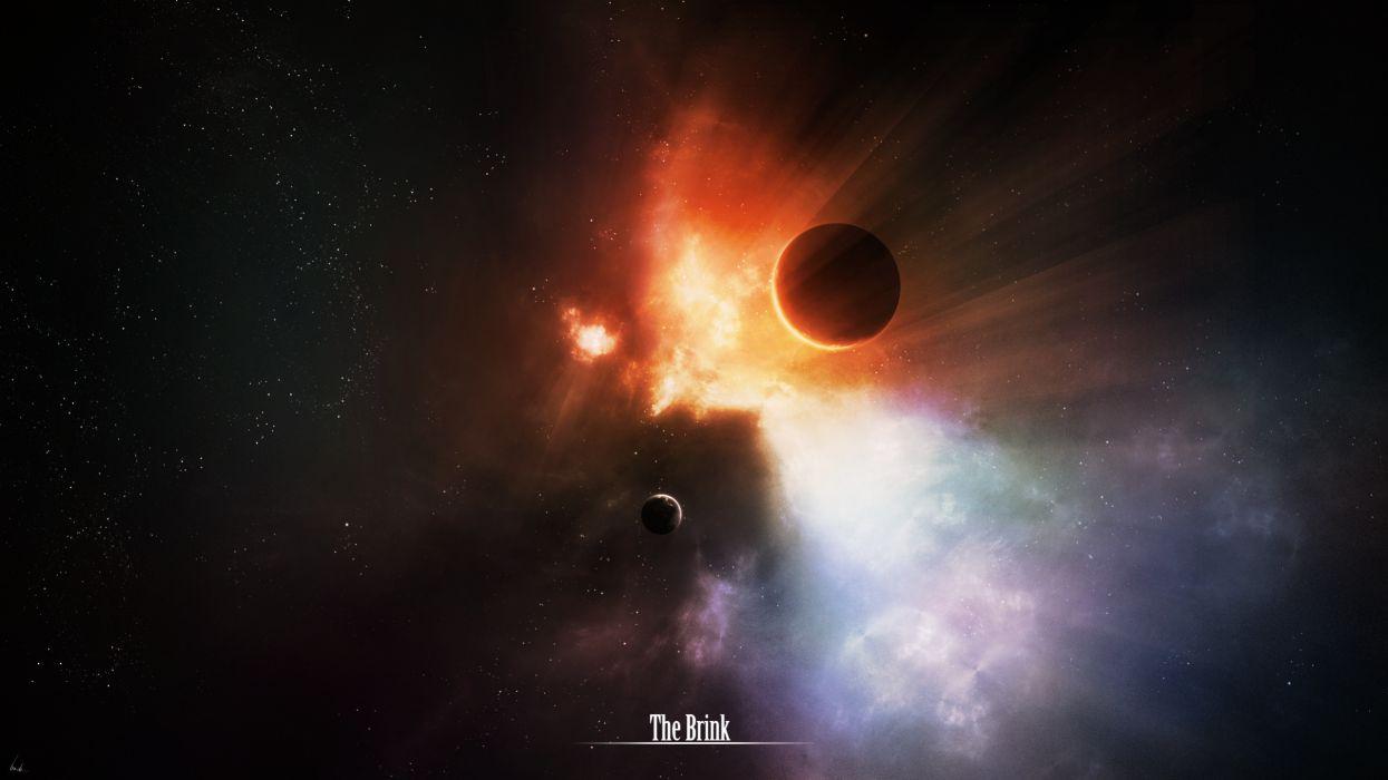 Outer space fantasy art brink science fiction artwork wallpaper