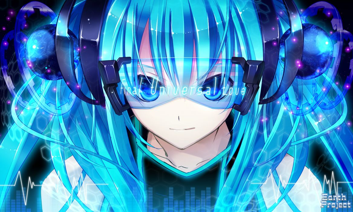 Vocaloid hatsune miku twintails aqua hair wallpaper