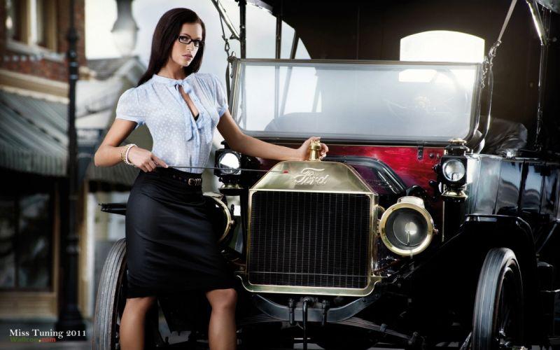 Women cars models ford september kristin zippel miss tuning wallpaper