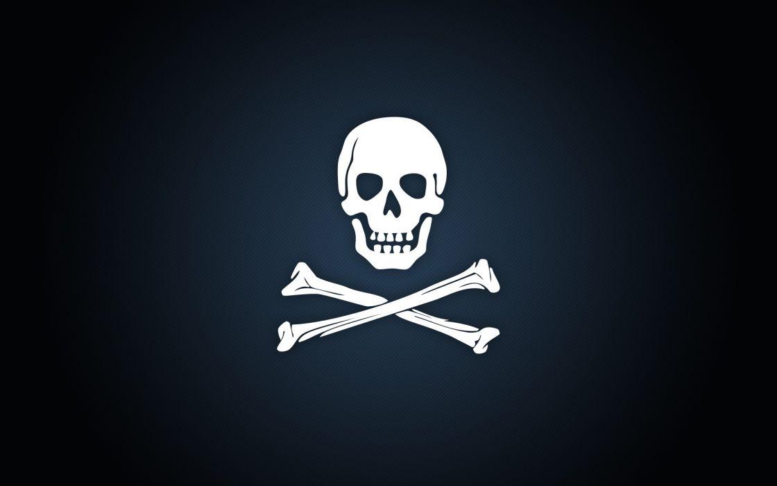 Pirates skull and crossbones jolly roger wallpaper