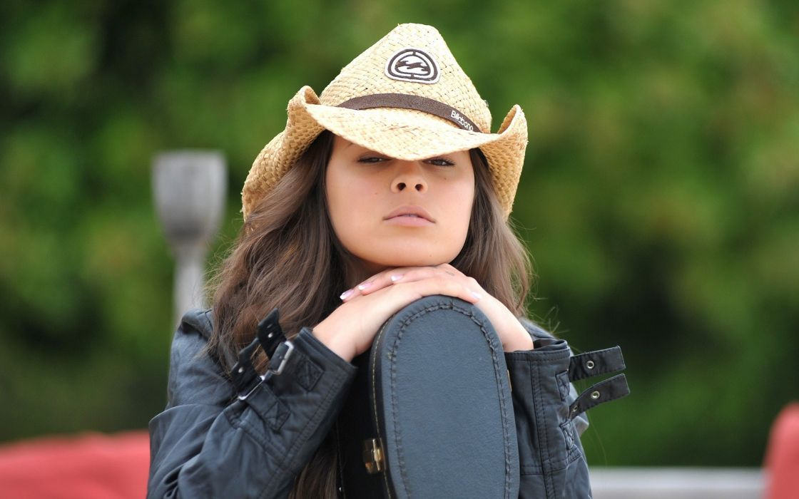 Brunettes women nina james hats wallpaper