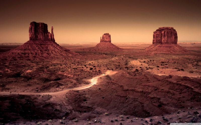 Landscapes nature desert arizona monument valley rock formations wallpaper