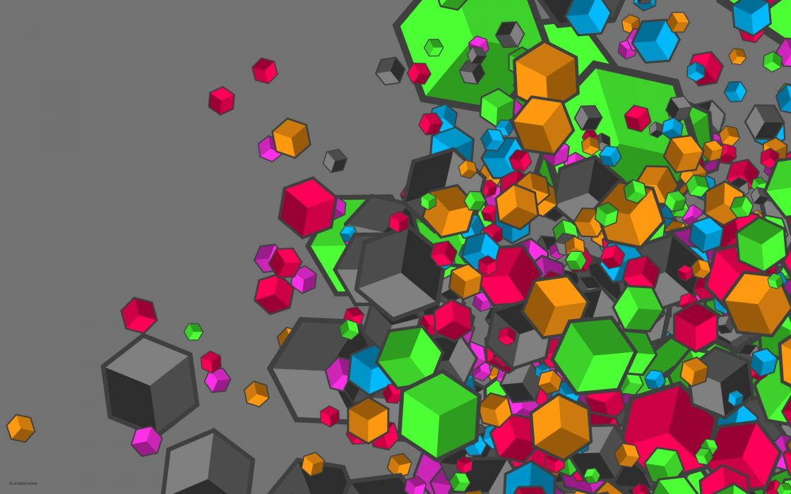 abstract multicolor cubes wallpaper 2560x1600 13449 wallpaperup