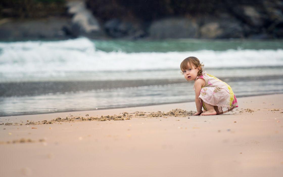 Beach kids babies wallpaper