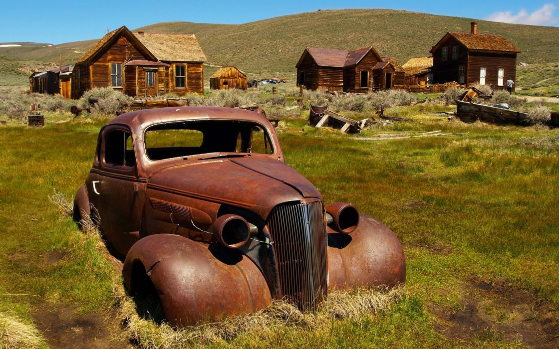 Landscapes cars rust rusted wallpaper