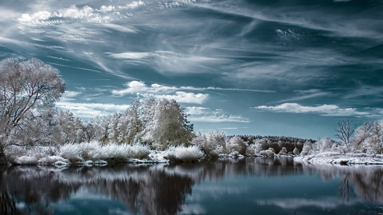 Landscapes nature winter lakes wallpaper
