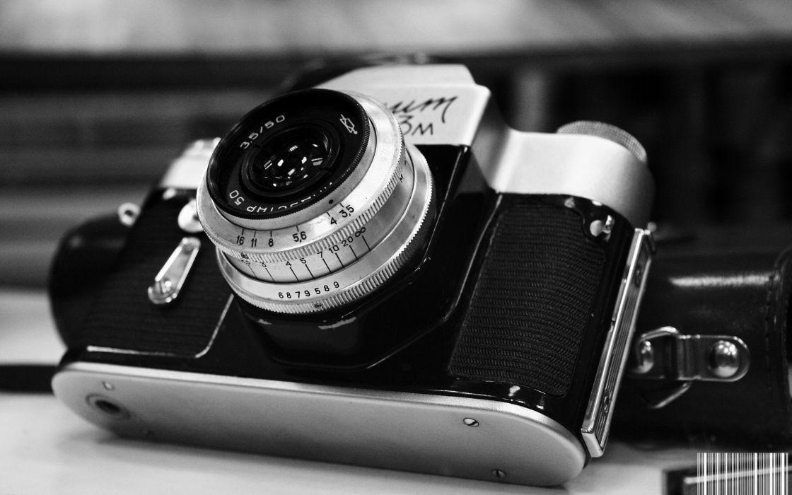 Monochrome photo camera wallpaper