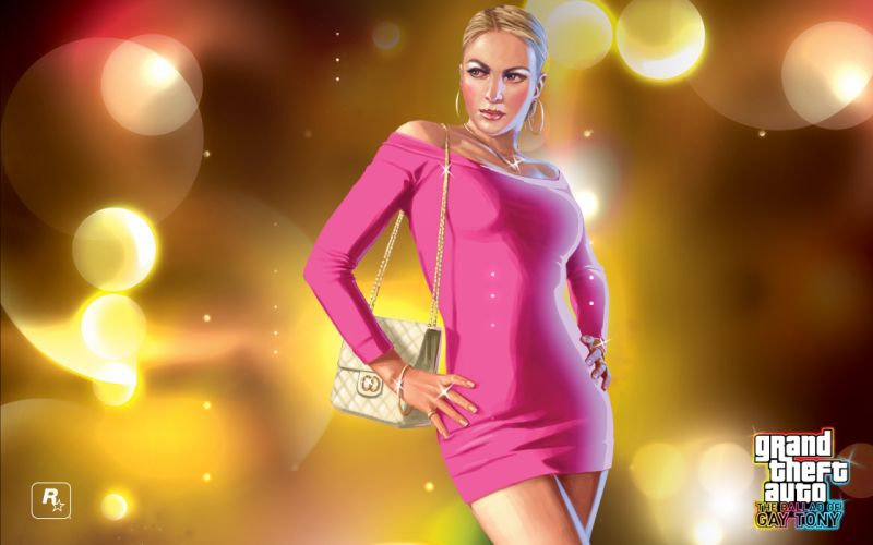Women video games pink digital grand theft auto gta iv the ballad of gay tony wallpaper
