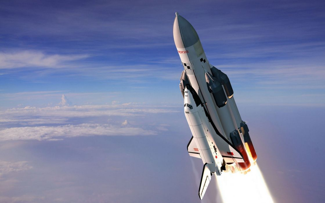Outer space russian ussr energia buran shuttle wallpaper