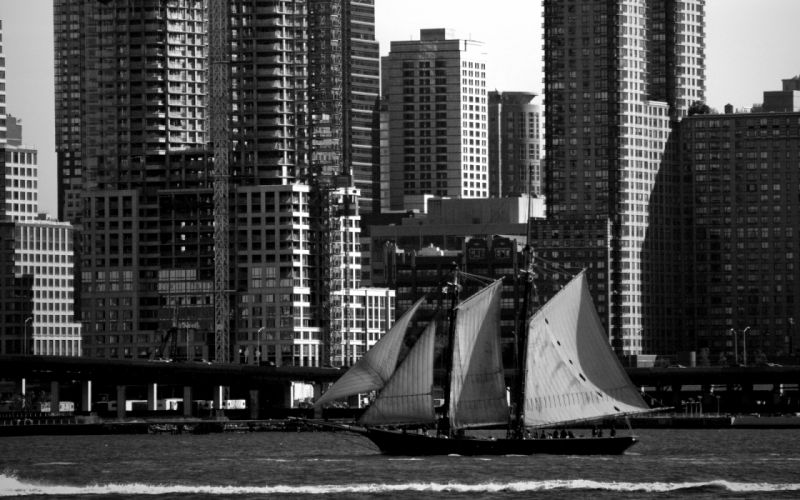 Cityscapes architecture buildings vehicles sailboats rivers wallpaper