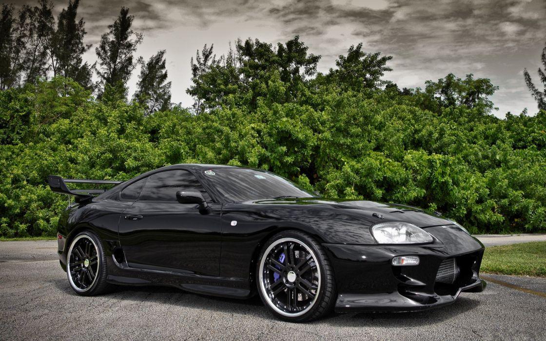 Black Cars Toyota Vehicles Toyota Supra Wallpaper