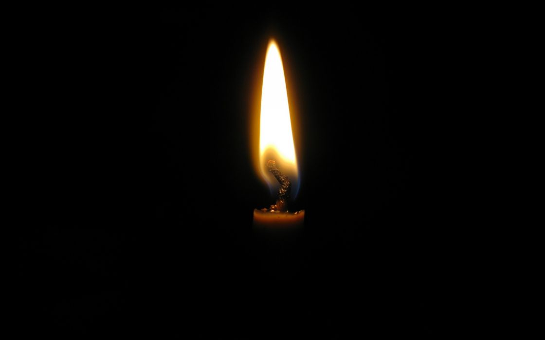 Flames fire candles black background wallpaper