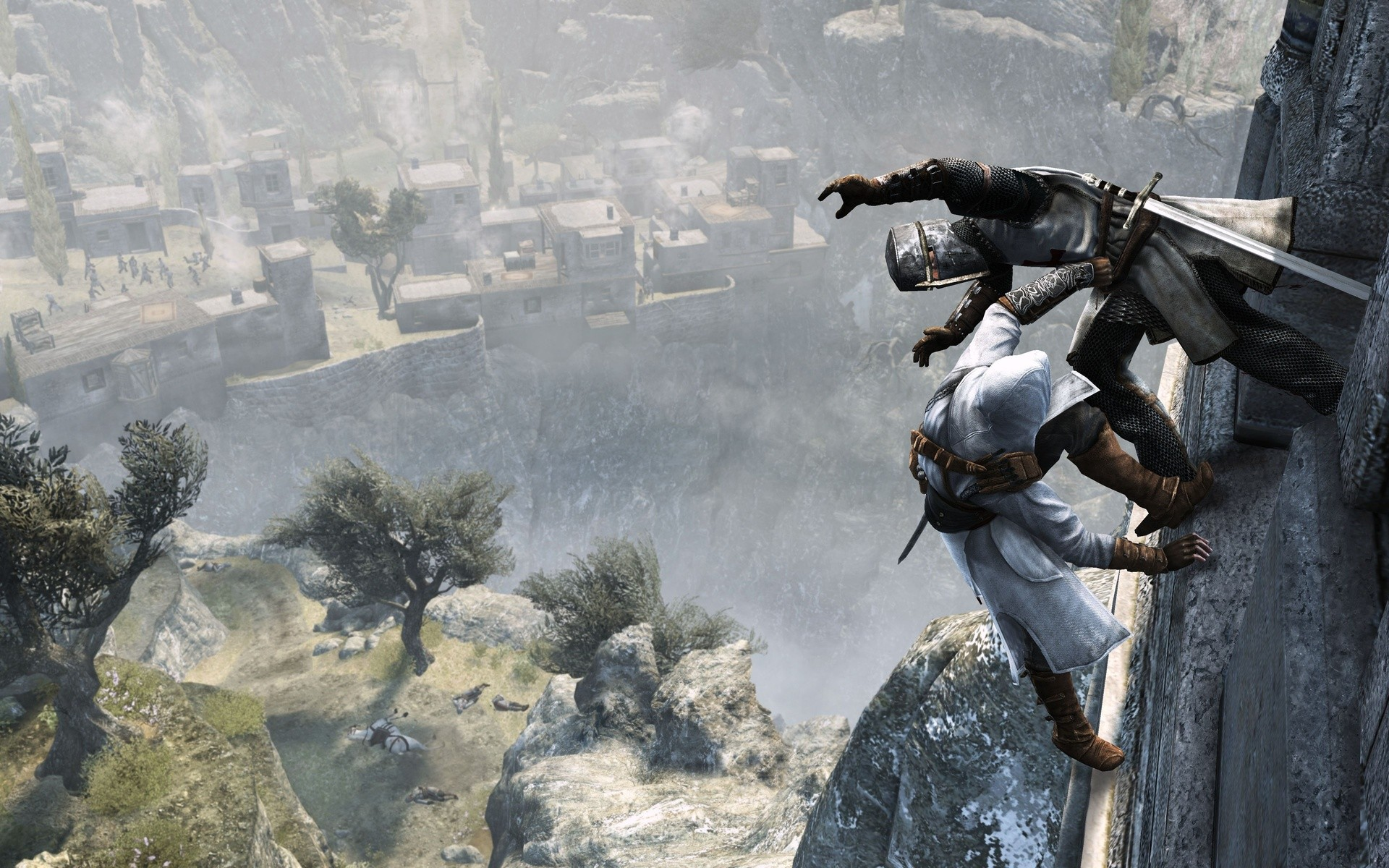 Video Games Assassins Creed Cliffs Digital Art Artwork Wallpaper