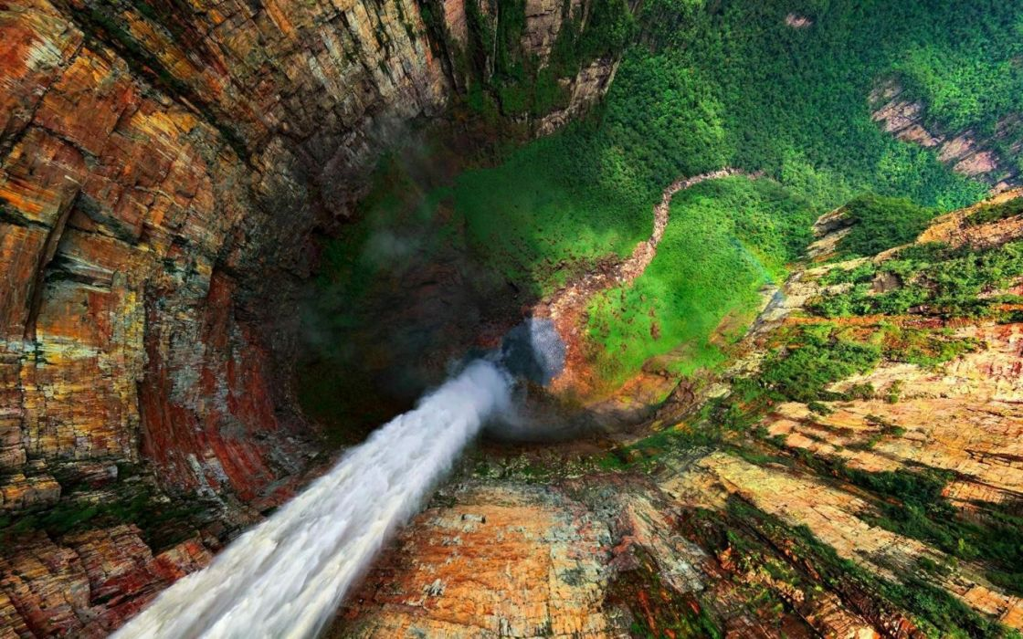 Green mountains landscapes nature autumn wildlife waterfalls wallpaper