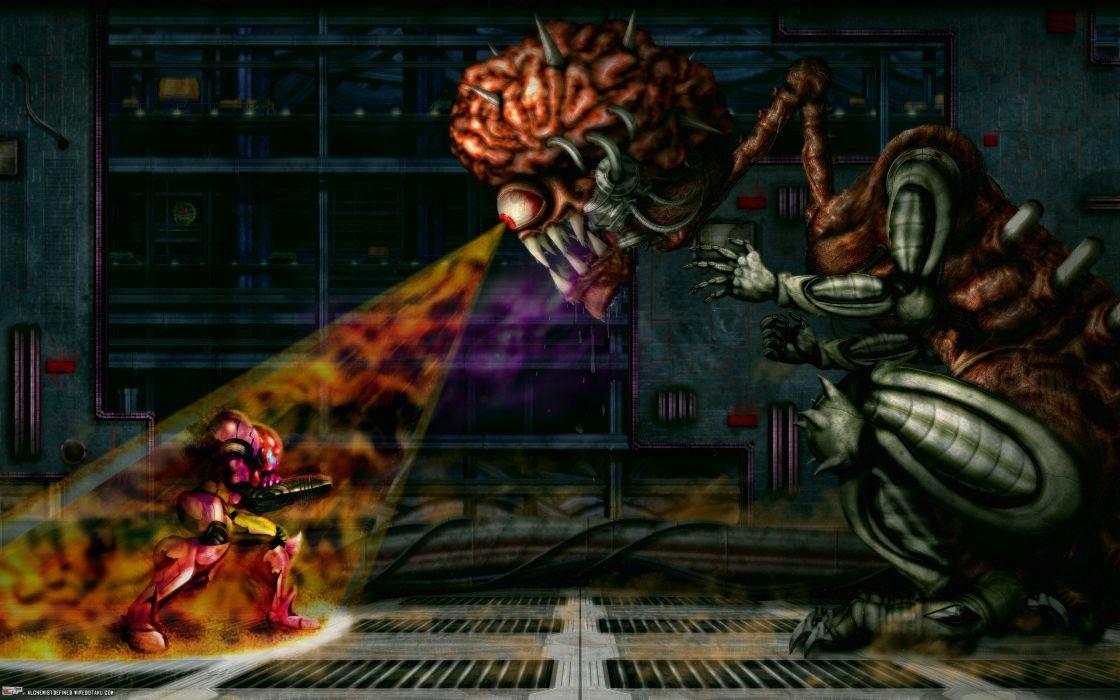 Metroid mother brain wallpaper