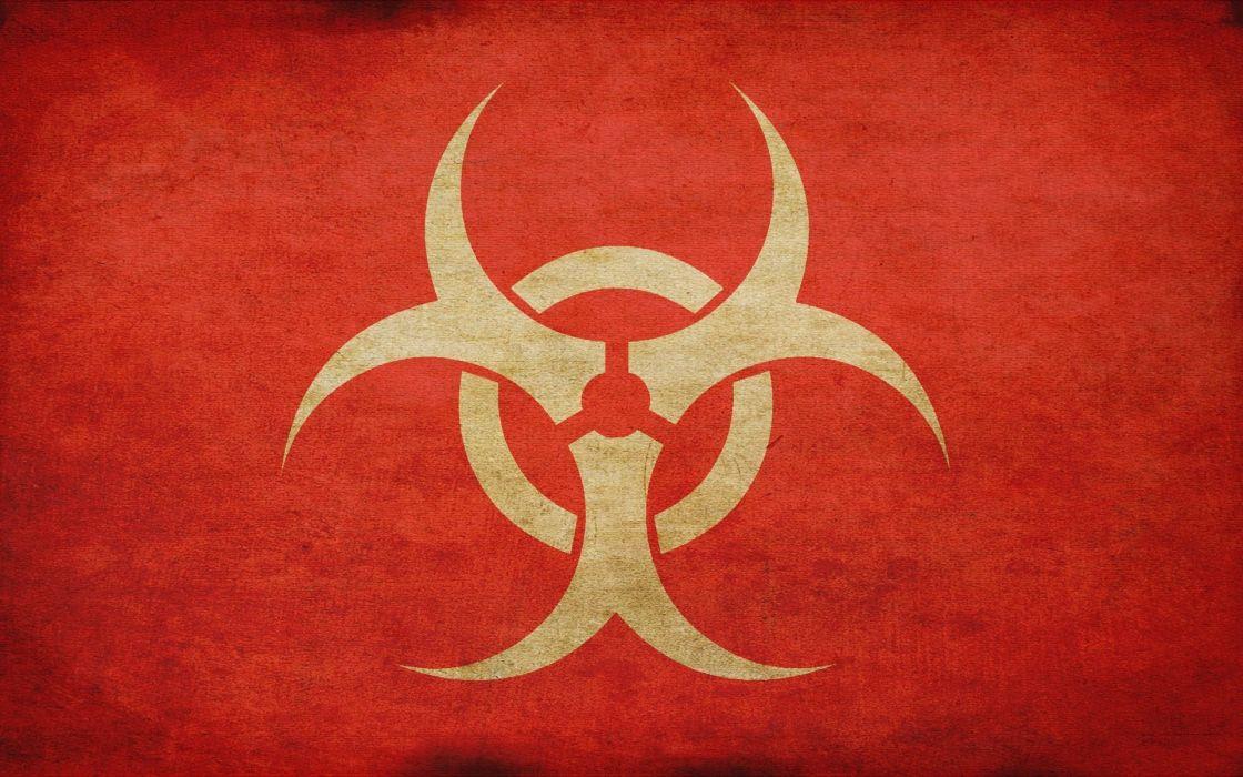 Minimalistic radioactive artwork logos wallpaper