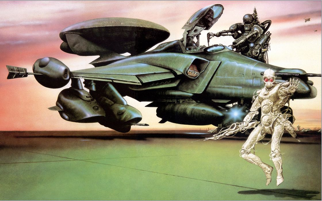 Futuristic science fiction artwork wallpaper