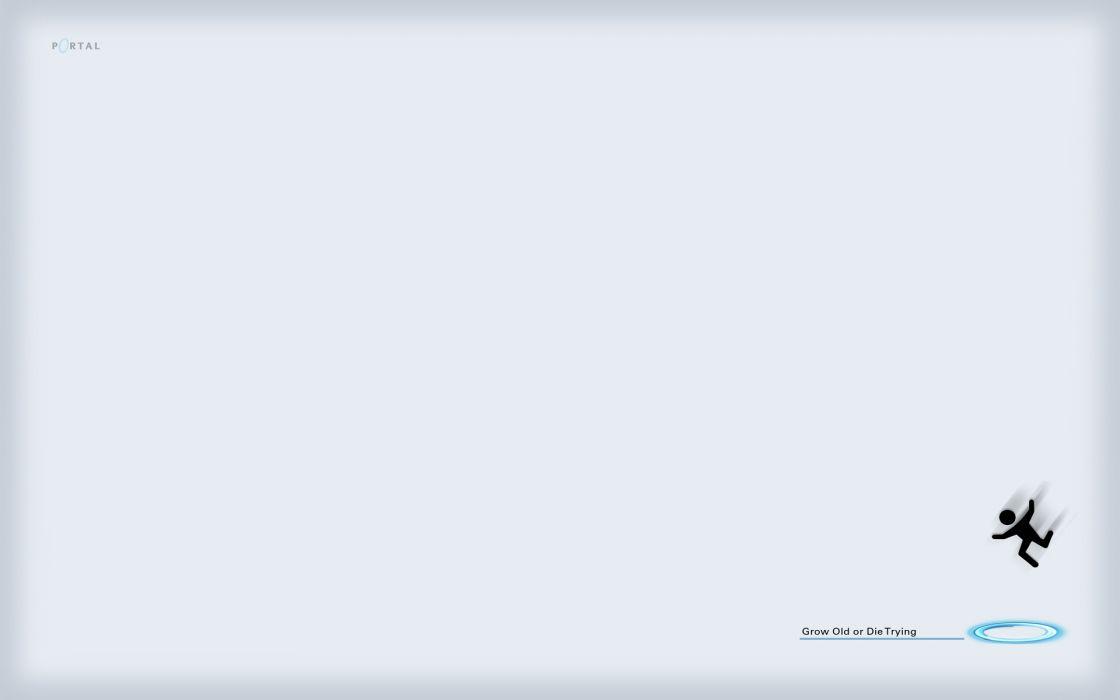 Portal minimalistic wallpaper