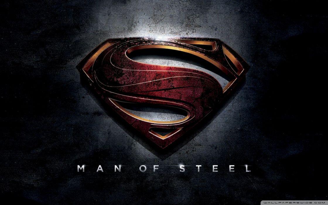 Superman superman logo man of steel (movie) wallpaper