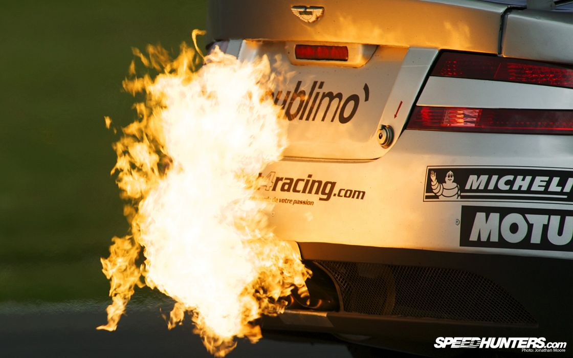 Flames cars fire aston martin backview vehicles exhaust wallpaper