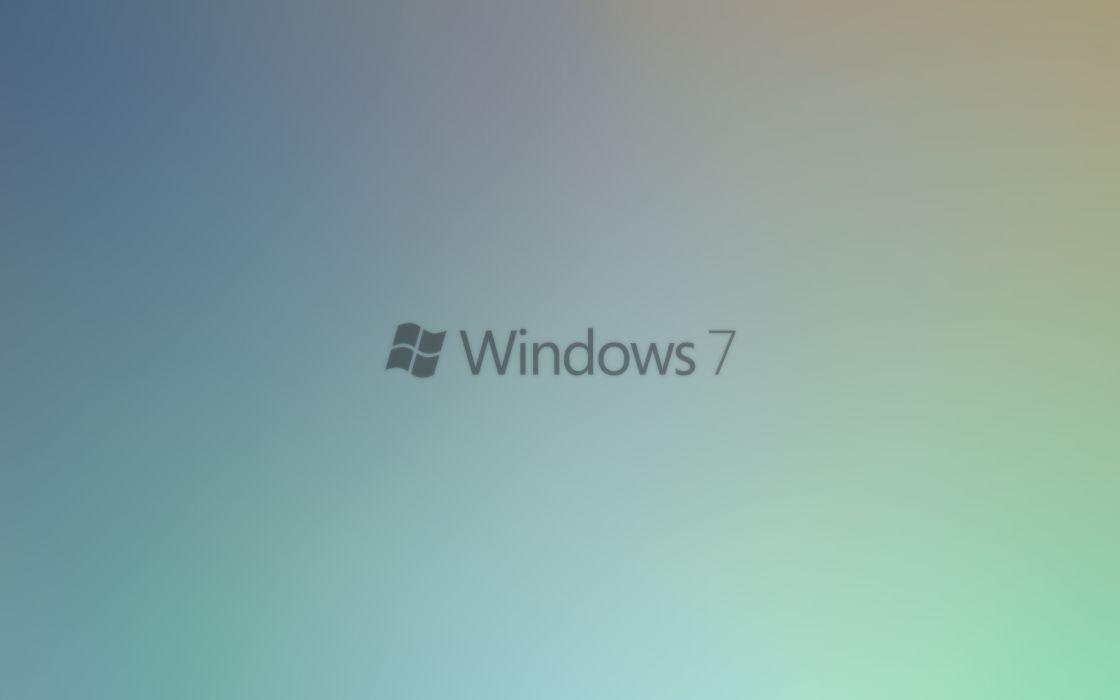 Minimalistic windows 7 logos wallpaper