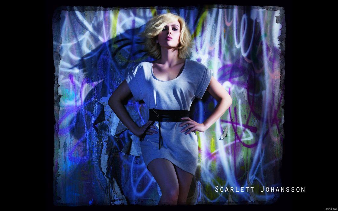 Blondes women scarlett johansson actress wallpaper