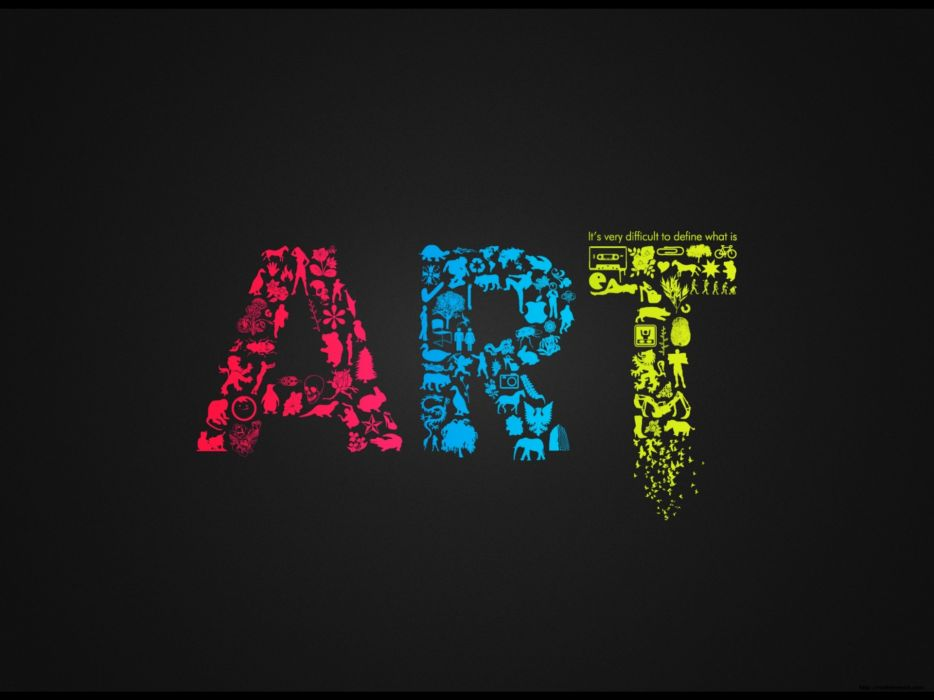 Dark multicolor artwork wallpaper