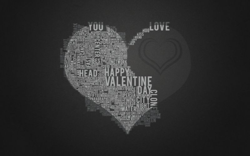 Love black text gray home typography hearts wallpaper