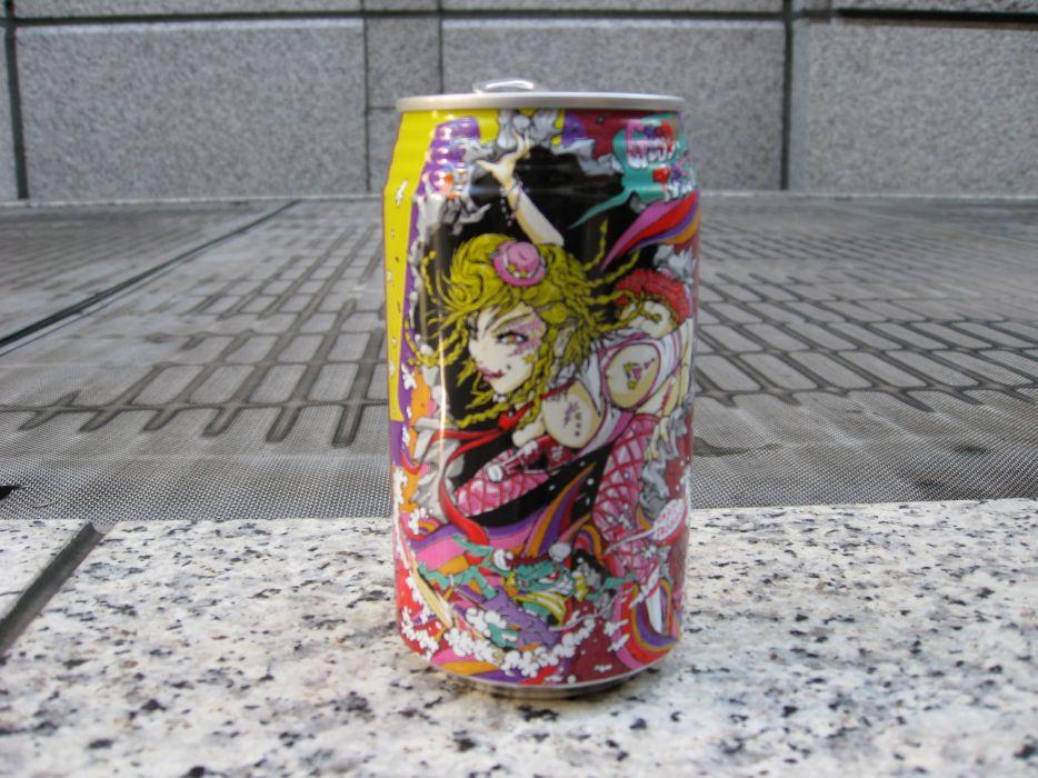 Artwork selective coloring soda cans can wallpaper