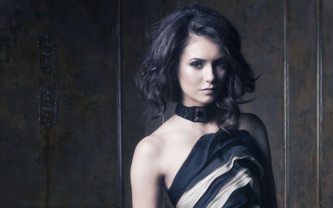 Brunettes women dress models nina dobrev wallpaper