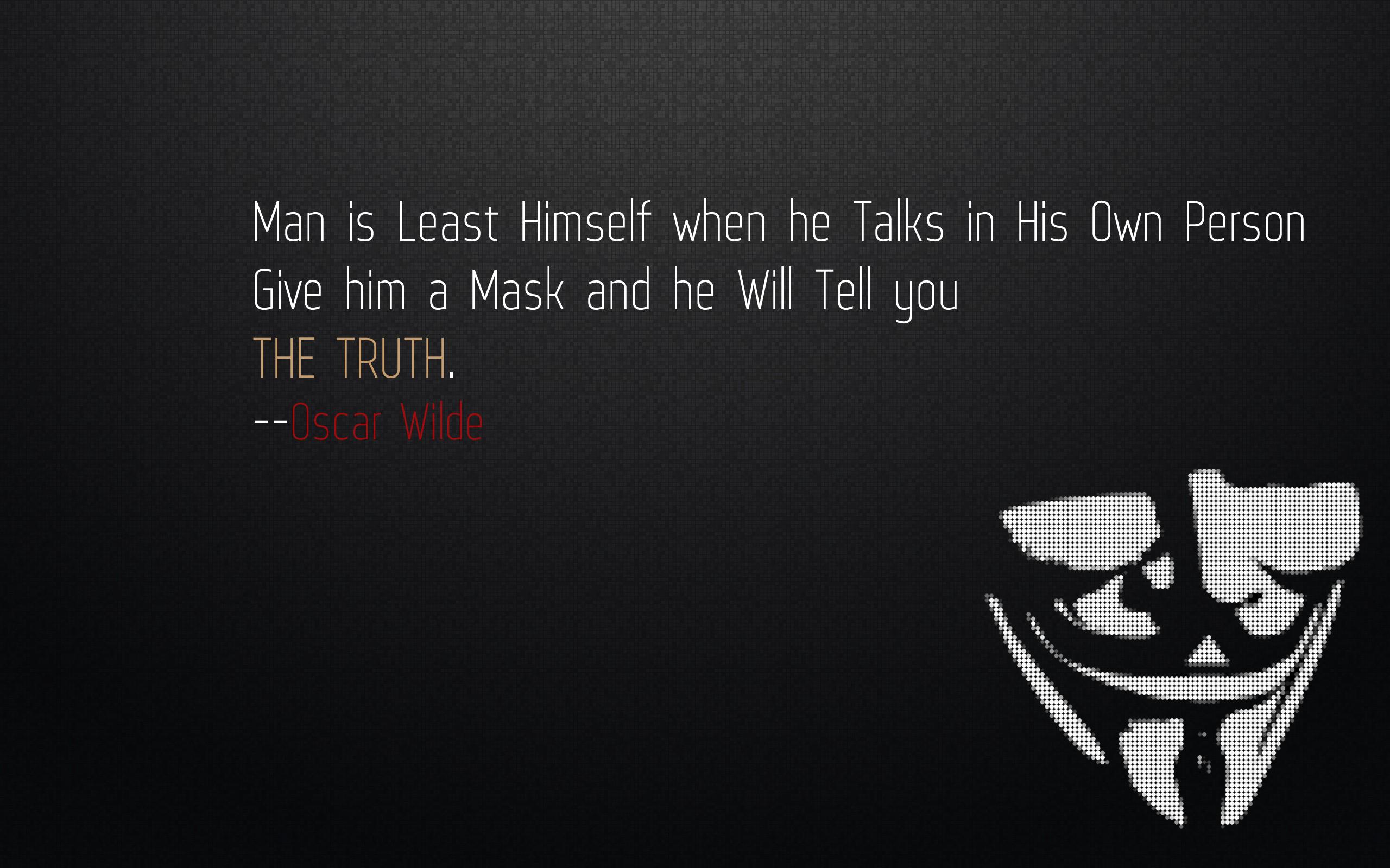 V For Vendetta Mask Wallpaper Quotes Minimalistic qu...