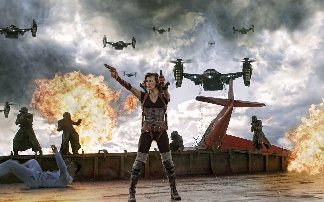Aircraft milla jovovich resident evil apocalypse wallpaper