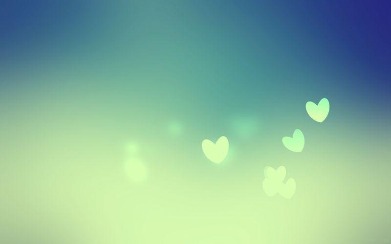 Blue love hearts wallpaper
