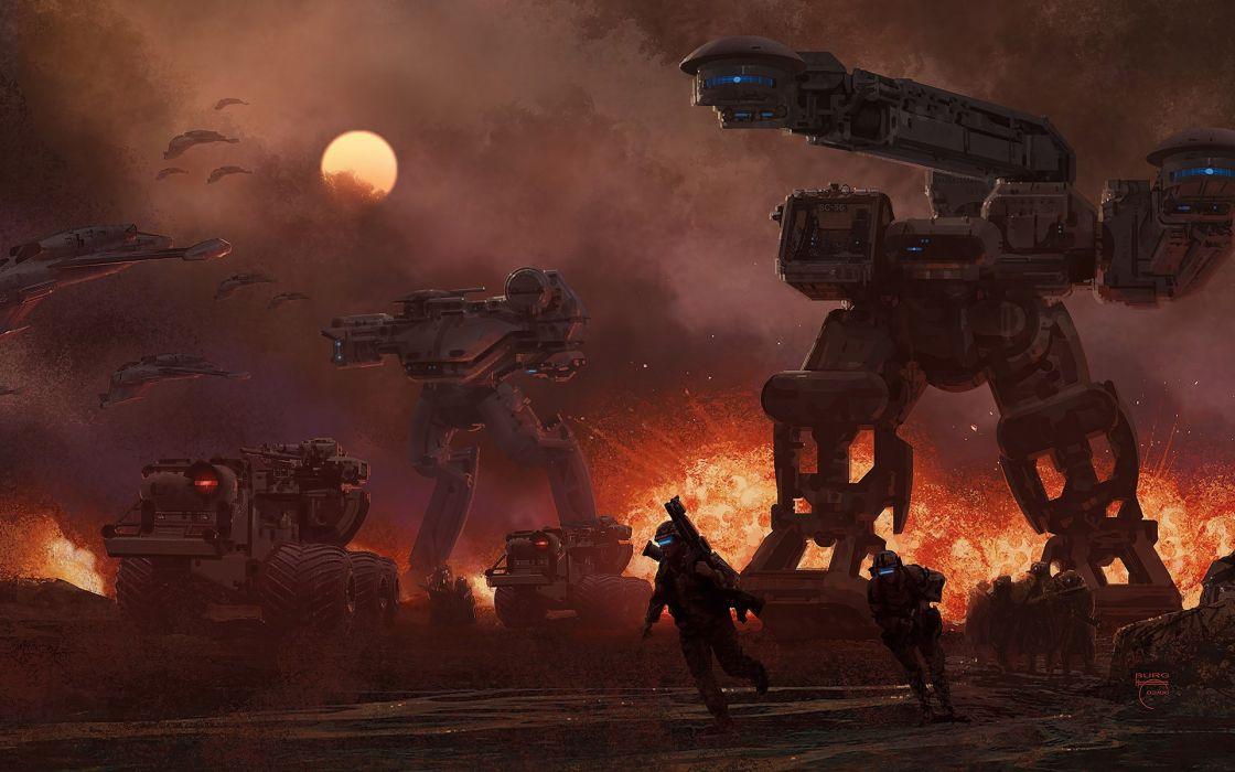 Command and conquer future combat fantasy art vehicles wallpaper