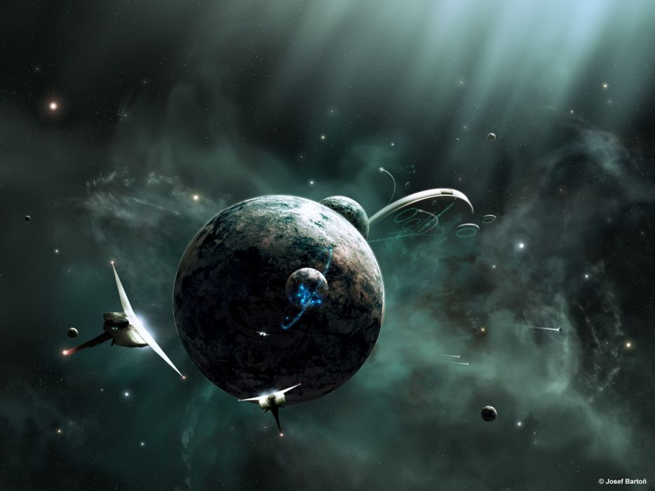 Outer space planets joejesus josef barton wallpaper
