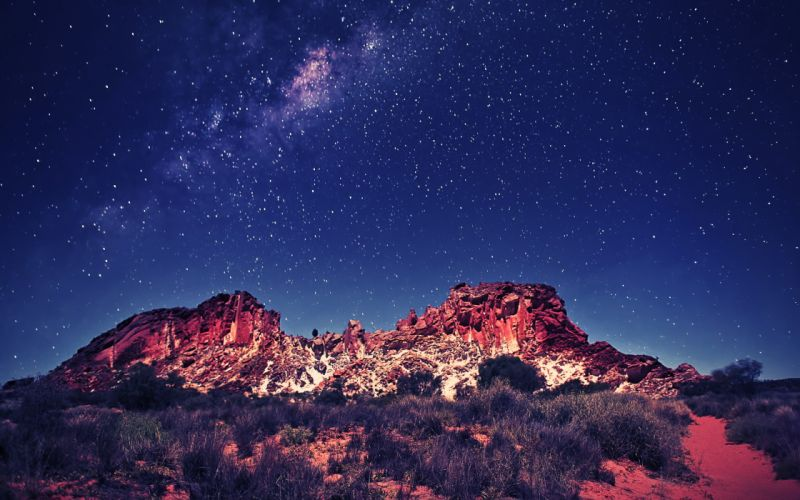 Landscapes stars skyscapes wallpaper