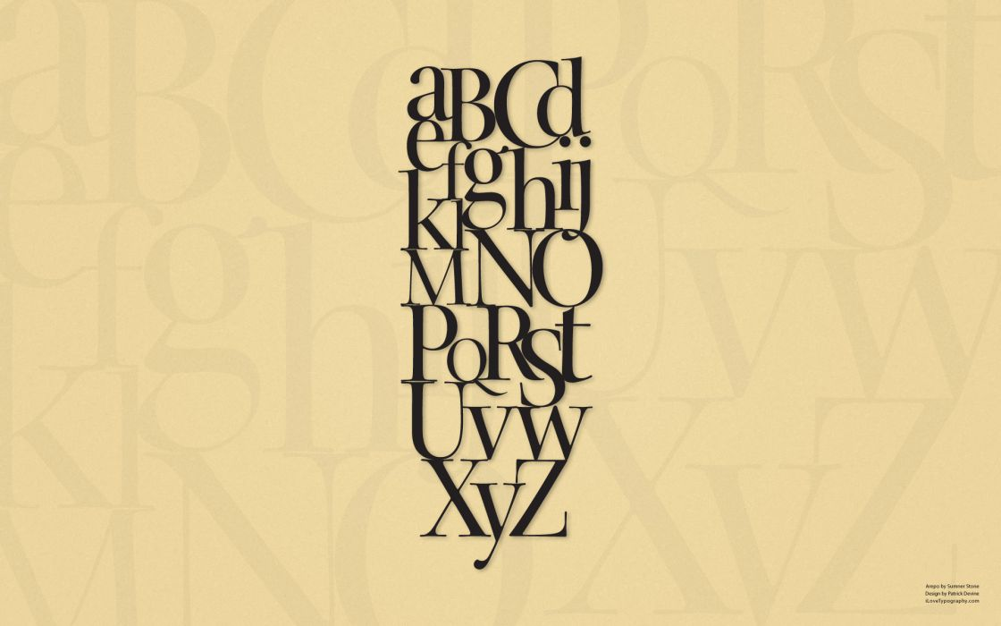 Typography alphabet wallpaper