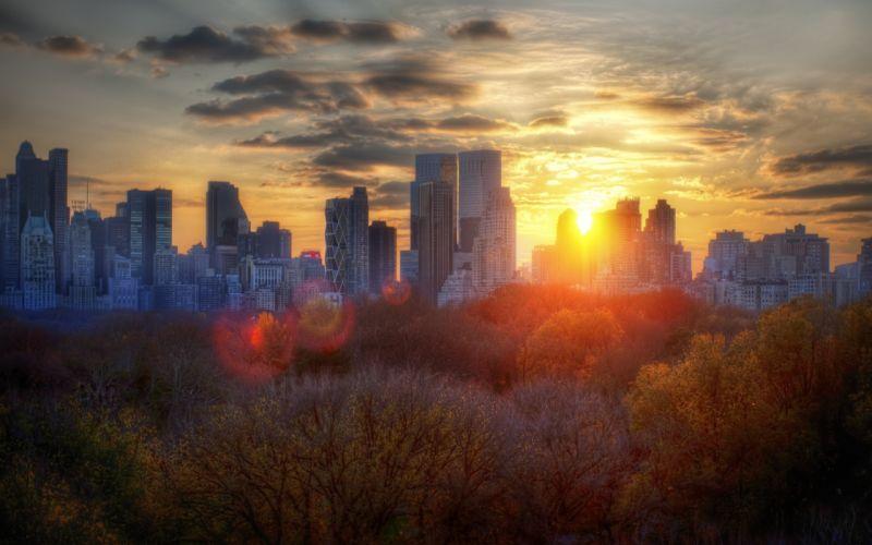 Autumn cityscapes new york city wallpaper