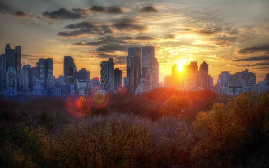 Autumn cityscapes new york city wallpaper