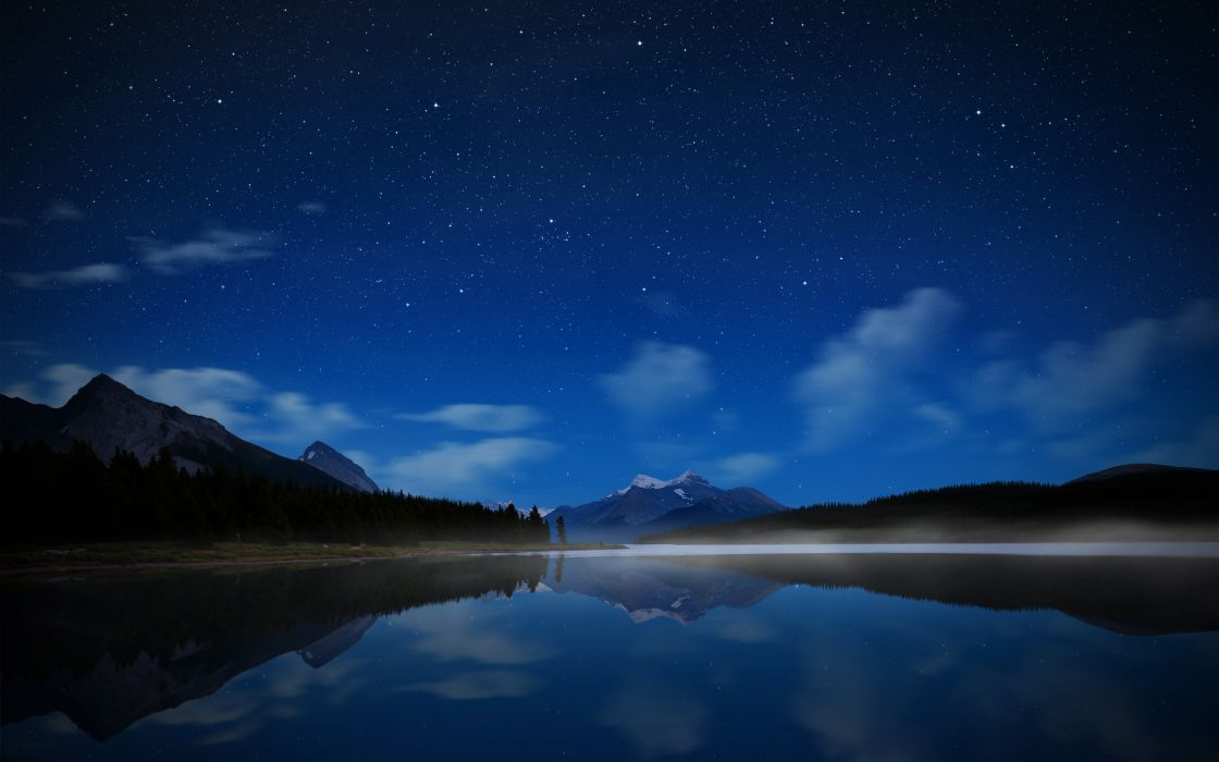 Mountains stars skyscapes wallpaper