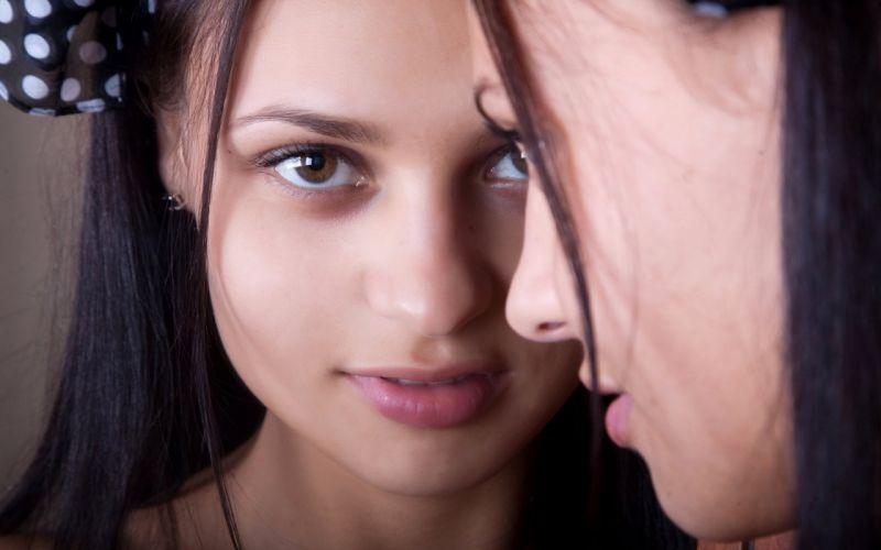 Brunettes women models polka dots taini a erotic beauty magazine wallpaper