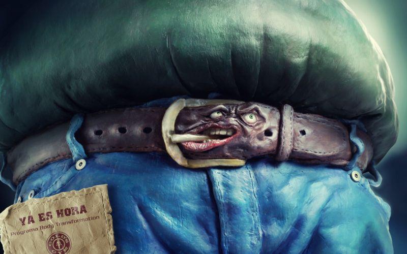Fat funny belts sculpture clay wallpaper