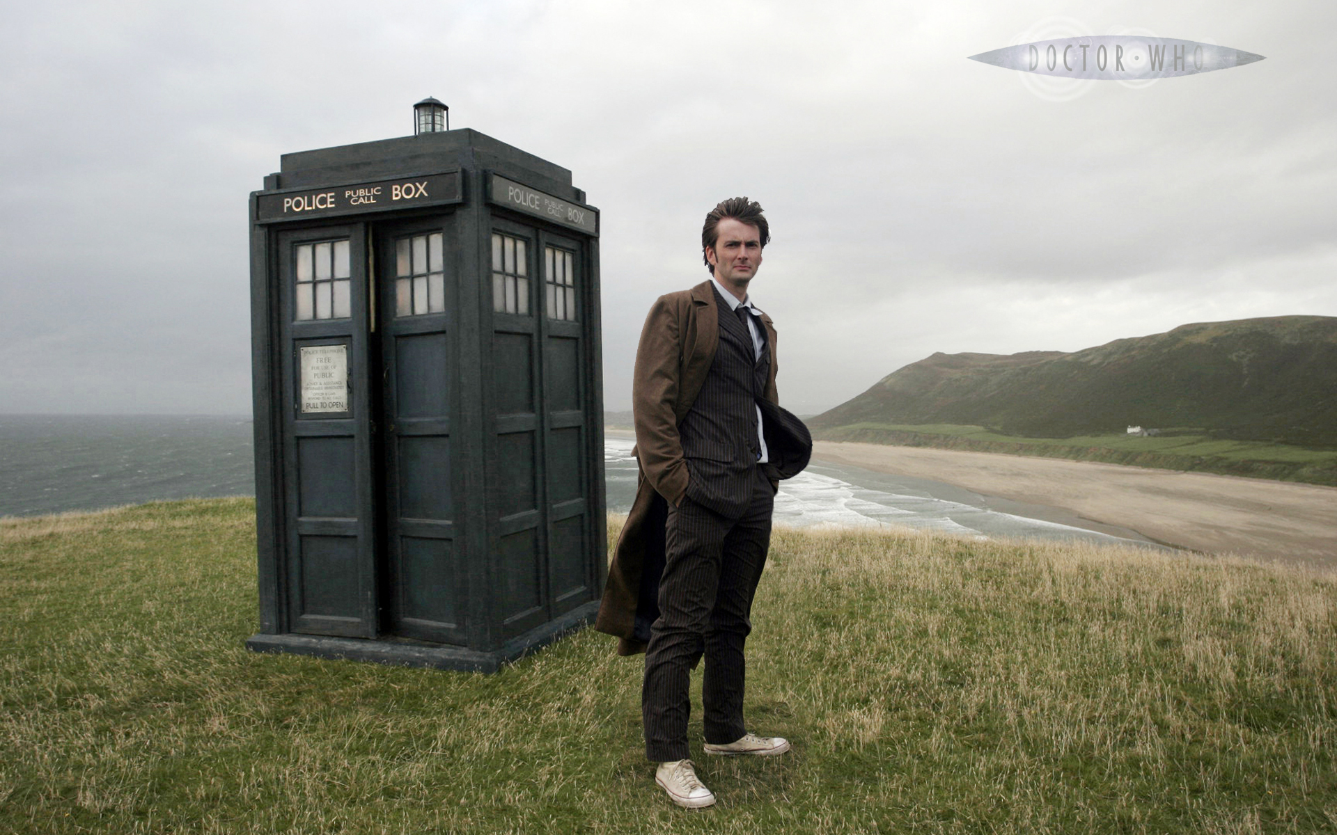 Tardis David Tennant Doctor Who Tenth Doctor Wallpaper 1920x1200