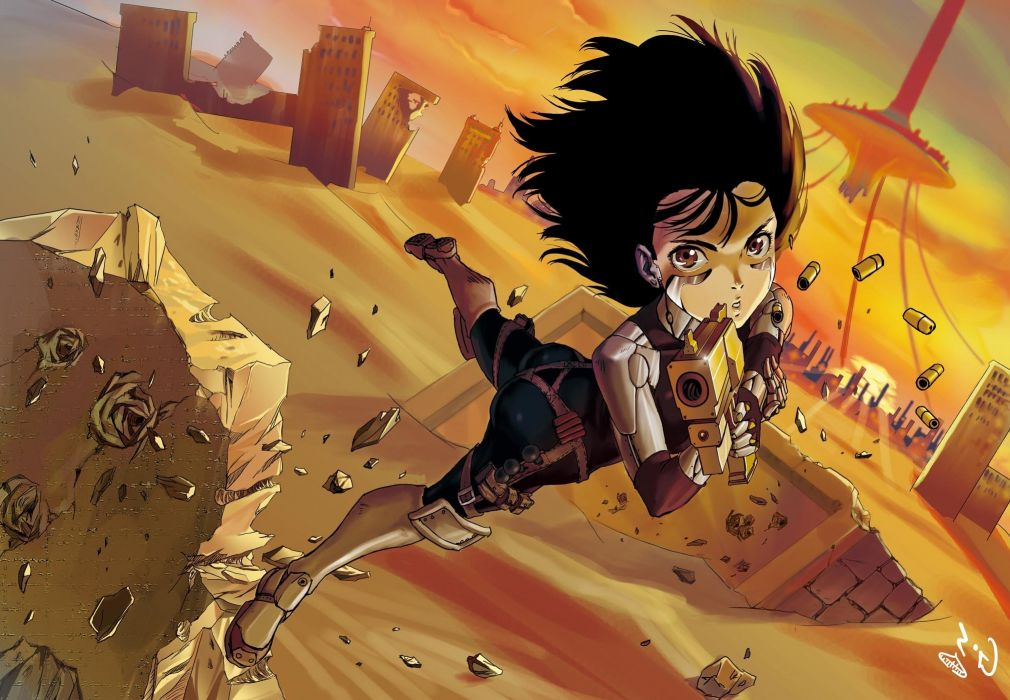 Guns gally gunnm cyborgs battle angel battle angel alita wallpaper