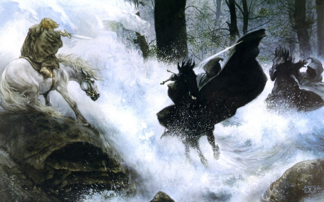 The lord of the rings nazgul the fellowship of the ring frodo baggins wallpaper