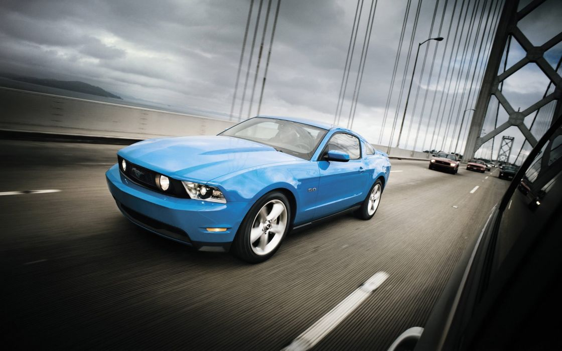 Cars bridges vehicles ford mustang wallpaper