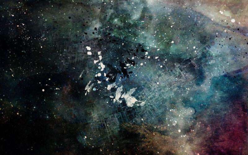 Grunge paint digital art water drops alex cherry colors drips splashes wallpaper